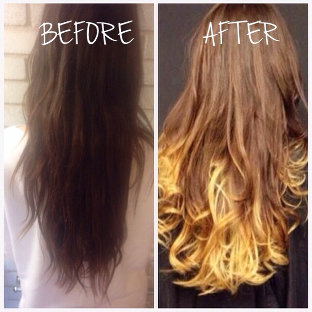 image ombre before and after
