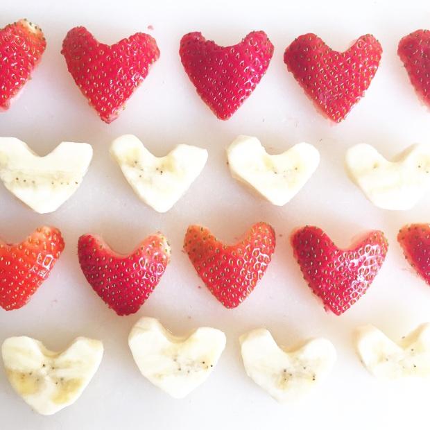 love heart fruit