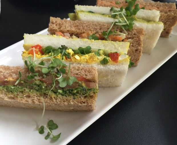 vegan afternoon tea sandwiches