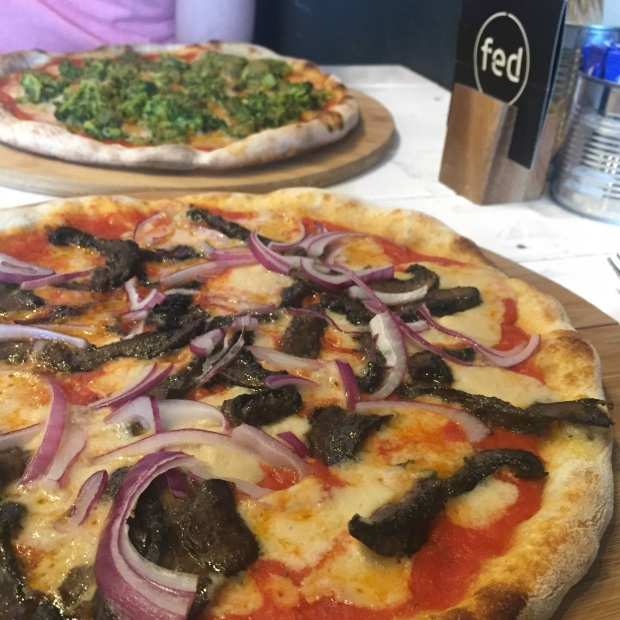 fed by water vegan pizza