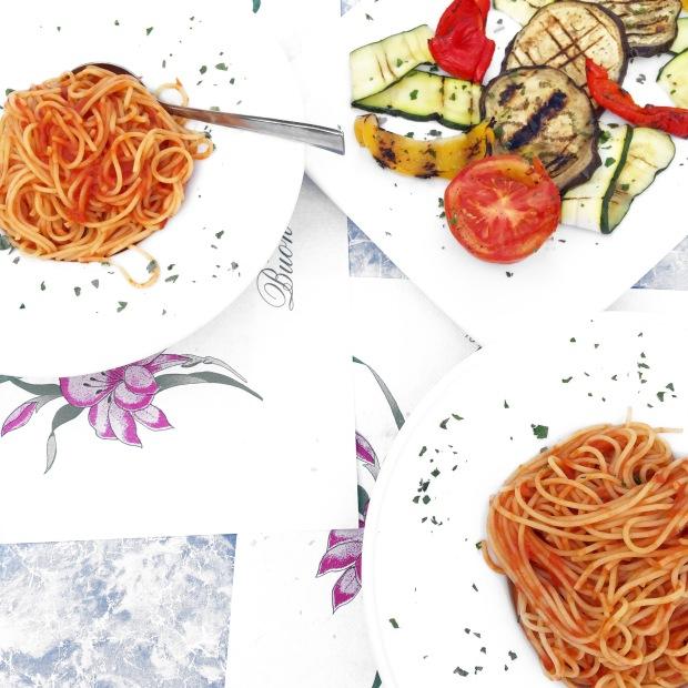Vegan spaghetti in Italy