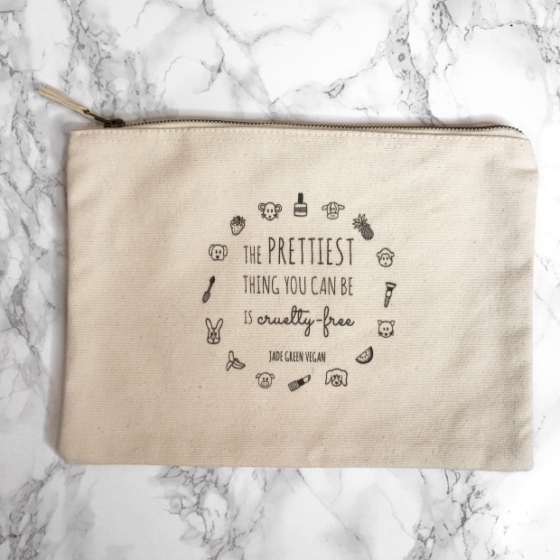THE PRETTIEST THING YOU CAN BE IS CREULTY FREE MAKEUP BAG